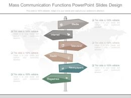 Mass Communication Functions Powerpoint Slides Design