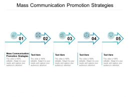 Mass Communication Promotion Strategies Ppt Powerpoint Presentation Professional Deck Cpb
