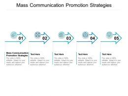 Mass Communication Promotion Strategies Ppt Powerpoint Presentation Professional Deck Cpb
