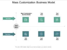 Mass Customization Business Model Ppt Powerpoint Presentation Visual Aids Background Cpb