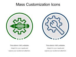 Mass Customization Icons