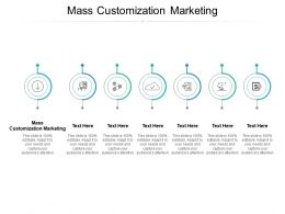 Mass Customization Marketing Ppt Powerpoint Presentation File Designs Download Cpb