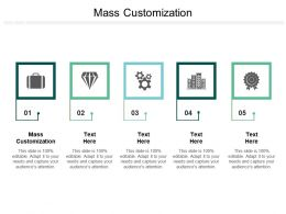 Mass Customization Ppt Powerpoint Presentation Diagram Ppt Cpb