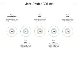 Mass Divided Volume Ppt Powerpoint Presentation Pictures Infographic Template Cpb