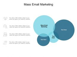 Mass Email Marketing Ppt Powerpoint Presentation Infographics Background Image Cpb
