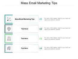 Mass Email Marketing Tips Ppt Powerpoint Presentation Template Model Cpb