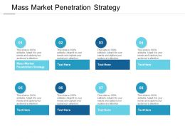 Mass Market Penetration Strategy Ppt Powerpoint Presentation Infographics Example Cpb