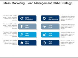 Mass Marketing Lead Management Crm Strategy Business Acquisition Cpb