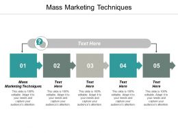 Mass Marketing Techniques Ppt Powerpoint Presentation Gallery Styles Cpb