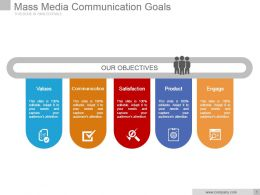 Mass Media Communication Goals Powerpoint Slide Download