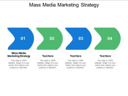 Mass Media Marketing Strategy Ppt Powerpoint Presentation Professional Graphics Cpb