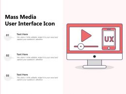 Mass Media User Interface Icon