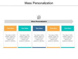 Mass Personalization Ppt Powerpoint Presentation Model Icon Cpb