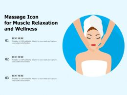 Massage Icon For Muscle Relaxation And Wellness
