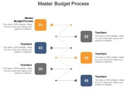Master Budget Process Ppt Powerpoint Presentation Professional Master Slide Cpb