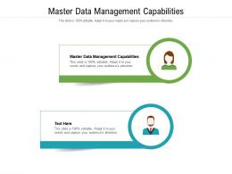 Master Data Management Capabilities Ppt Powerpoint Presentation Diagram Images Cpb