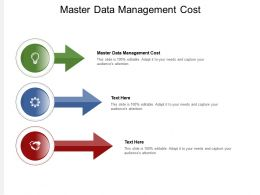 Master Data Management Cost Ppt Powerpoint Presentation Model Picture Cpb