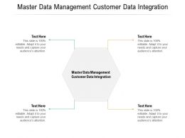 Master Data Management Customer Data Integration Ppt Powerpoint Presentation Icon Cpb