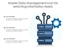 Master Data Management Icon For Enriching Information Assets