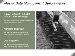 Master Data Management Opportunities Powerpoint Slide Deck