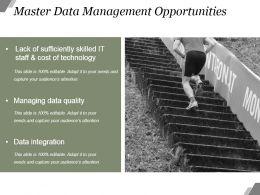 Master Data Management Opportunities Powerpoint Slide Deck