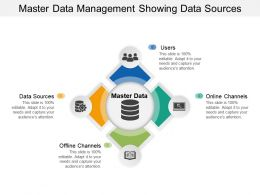 Master Data Management Showing Data Sources