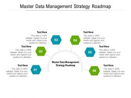 Master Data Management Strategy Roadmap Ppt Powerpoint Presentation Slides Information Cpb