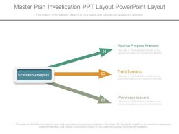 Master Plan Investigation Ppt Layout Powerpoint Layout
