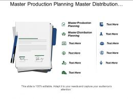 Master Production Planning Master Distribution Planning Interface Communication