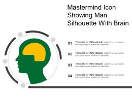 Mastermind Icon Showing Man Silhouette With Brain01
