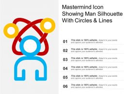 Mastermind Icon Showing Man Silhouette With Circles And Lines