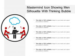 Mastermind Icon Showing Men Silhouette With Thinking Bubble