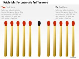 matchsticks_for_leadership_and_teamwork_powerpoint_template_Slide01