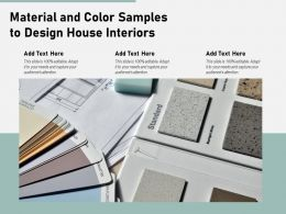 Material And Color Samples To Design House Interiors