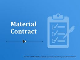 Material Contract Powerpoint Slide Presentation Sample