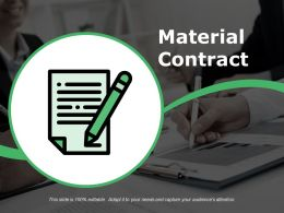 Material Contract Presentation Visuals