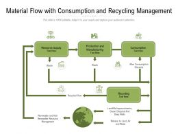 Material Flow With Consumption And Recycling Management
