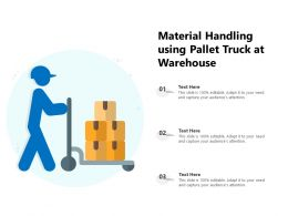 Material Handling Using Pallet Truck At Warehouse