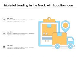 Material Loading In The Truck With Location Icon