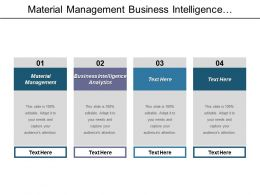 Material Management Business Intelligence Analytics Supply Chain Management Cpb