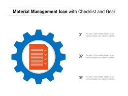 Material Management Icon With Checklist And Gear