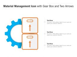 Material Management Icon With Gear Box And Two Arrows