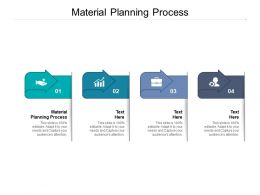 Material Planning Process Ppt Powerpoint Presentation Summary Icons Cpb