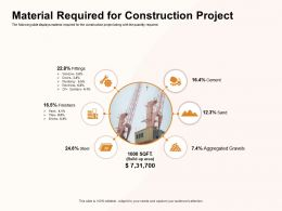 Material Required For Construction Project Gravels Ppt Powerpoint Presentation Model Summary