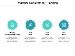 Material Requirement Planning Ppt Powerpoint Presentation Infographics Slides Cpb