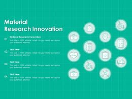 Material Research Innovation Ppt Powerpoint Presentation Inspiration Master Slide