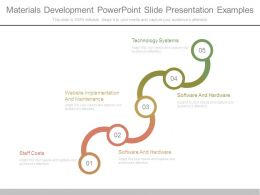Materials Development Powerpoint Slide Presentation Examples