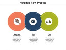 Materials Flow Process Ppt Powerpoint Presentation Gallery Designs Download Cpb