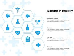 Materials In Dentistry Ppt Powerpoint Presentation Slides Professional