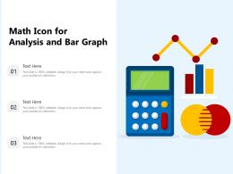 Math Icon For Analysis And Bar Graph